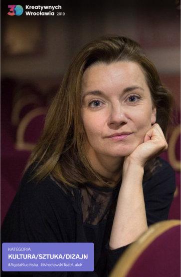 Agata Kucińska laureatką <br> w projekcie <br> 30 Kreatywnych Wrocławia.